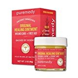 Puremedy Original Healing Ointment, Homeopathic All Natural First Aid Salve Relieves Symptoms of Wounds, Burns, Cuts, Bug Bites, Bed Sores, Itching, Swelling, Safe for Adults, Kids, 2 oz (Pack of 1)