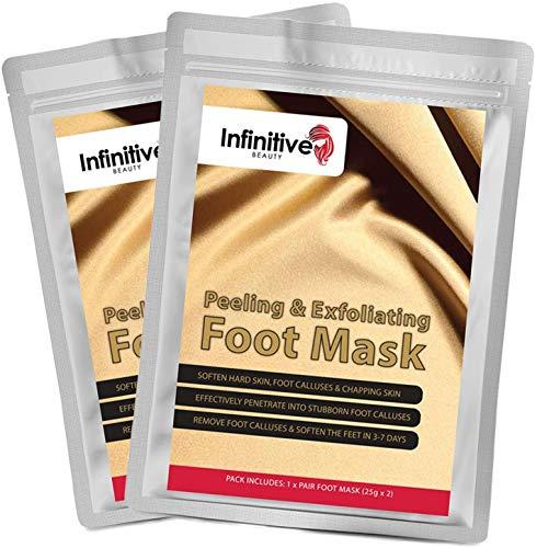 Foot Peel Mask Infinitive Beauty Exfoliating Socks – 2 Pairs - IB Foot Mask Peel Nourishes, Repairs & Moisturises Feet, Turning Rough Hard Callus Skin into Soft Smooth Baby Feet