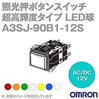 オムロン(OMRON) A3SJ-90B1-12SR 形A3S 照光押ボタンスイッチ 超高輝度タイプ (角胴形) (赤) NN