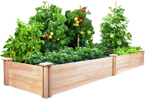 Greenes Fence 2 Ft. X 8 Ft. X 10.5 In Raised Garden Kit, Cedar