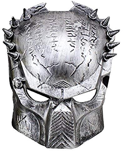Lovelegis Alien vs Predator Mask - Alien - Carnaval - Halloween - Color Plata - Hombre - Mujer - Idea de Regalo para cumpleaños