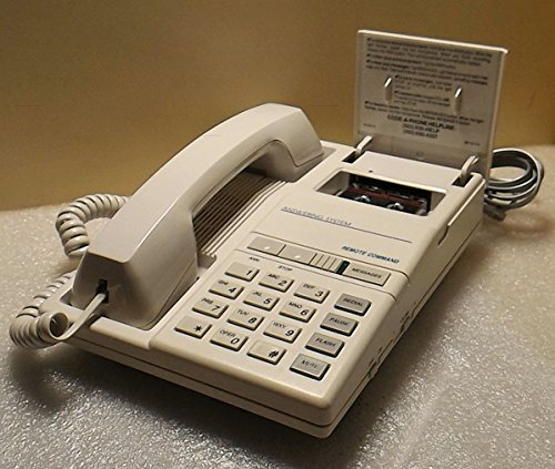 Code-A-Phone 1850 - Teléfono analógico y contestador automático integrado con microcassette