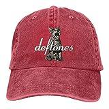 Photo de j65rwjtrhtr Deftones Unisex Vintage Washed Distressed Baseball Cap Casquette Twill Adjustable Dad Hat Black