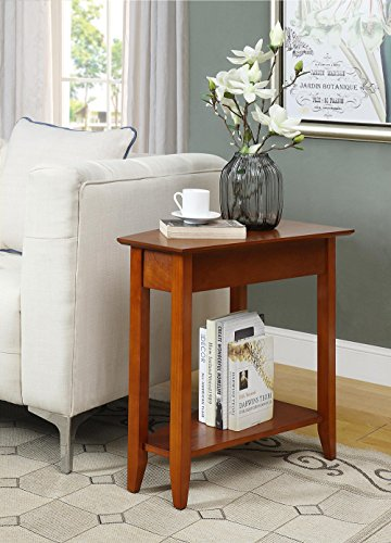 Convenience Concepts American Heritage Wedge End Table, Cherry