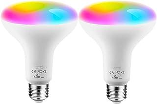 LVYIMAO Bombillas inteligentes WiFi, BR30, 10 W, 900 lm, ahorro de energía, foco LED de inundación, bombilla regulable que...