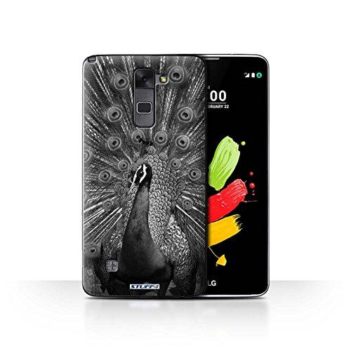 Hülle Für LG Stylus 2/K520 Zoo-Tiere Pfau Design Transparent Ultra Dünn Klar Hart Schutz Handyhülle Case