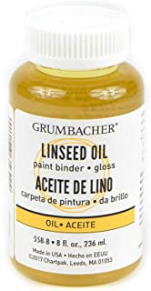 Grumbacher Linseed Medium for Oil Paintings, 8 Ounce Bottle, Yellow