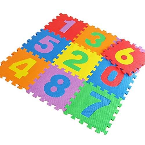 Kaliya Baby Tappetino da gioco Tappeto per bambini morbido e rotondo Cuscino imbottito in peluche Tende da gioco Decorazione per camerette blue-flower