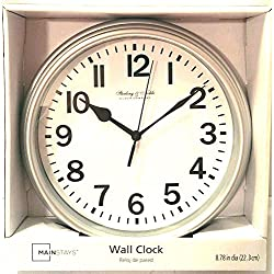 Sterling & Noble Wall Clock - Silver