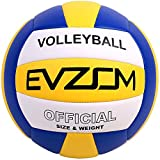 EVZOM Super Soft Volleyball Beach Volleyball Official Size 5 for Outdoor/Indoor/Pool/Gym/Training Premium Volleyball Equipment(Blue)