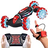Contixo SC1 All Terrain Speed Crawler RC Stunt Car, 4WD 2.4GHz Remote Control Car Gesture Sensor Toy Cars, Double Sided Rotating Offroad Vehicle 360° Flip with Lights Music, Kids Toy Cars
