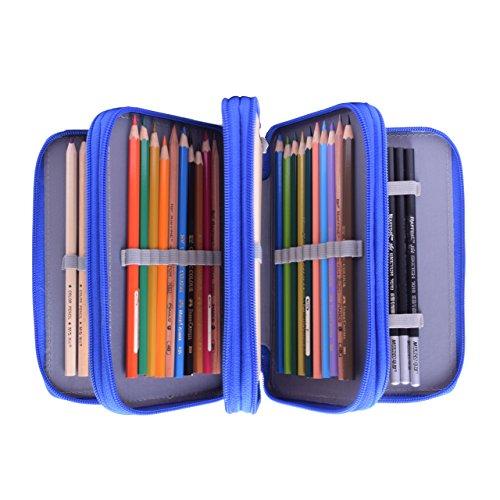 Newcomdigi Etui für 72Bleistifte Stifte Federmäppchen Schule elementaren Super große 4Schichten -