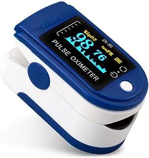 Oxímetro de Pulso,Pulsioxímetro con Pantalla OLED, Oxímetro con función de Alarma, para mediciones de Pulso (PR) y saturación de oxígeno (SpO2)