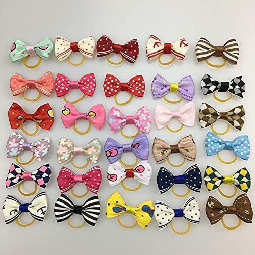 Ranking TOP14 HTHAU 20 Pieces lot Cute Ribbon Han Accessories Hair Dogs Cats Discount mail order