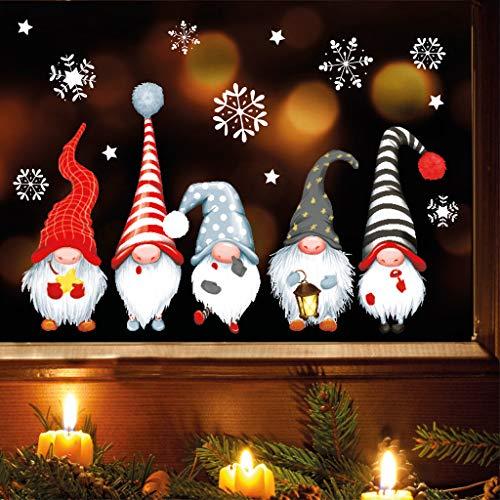 Wandtattoo Loft Fensterbild Weihnachten Winter wiederverwendbar Fensteraufkleber Kind Zimmer / 1. Fünf Zwerge (13052) / 2. DIN A3 Bogen