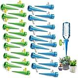 Sunshine smile Riego por Goteo Automático Kit, Sistema de Riego por Goteo de Riego, Ajustable Dispositivo de Riego por Ggoteo, Válvula de Control de Liberación Lenta (Azul + Verde)