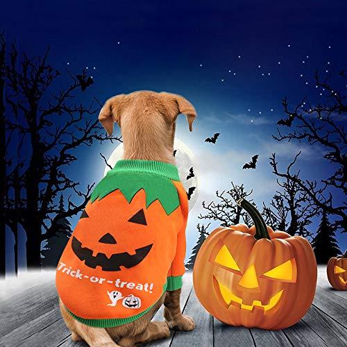 Idepet Disfraz de Calabaza de Halloween para Mascotas - Abrigo de Forro Polar para Perro, Gato, Cachorro o Chihuahua, también Ideal para Navidad, Pascua u Otras Fiestas