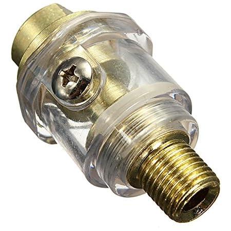 Toogoo Druckluftoeler Minioeler 6mm Druckluft Nebeloeler 1 4 Leitungsoeler Oelnebler Oeler Baumarkt