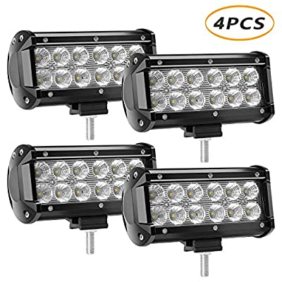 LED Light Bar 4 X 36w 3600 Lumens, YEEGO Cree LED Flood Lights for Off-Road Rv Atv SUV Boat Jeep Truck SUV ATV Tractor Pickup Lighting 2 Years Warranty (4Pack-36W Flood Light)