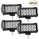 LED Light Bar 4 X 36w 3600 Lumens, YEEGO Cree LED Flood Lights for Off-Road Rv ATV SUV Boat Truck SUV ATV Tractor Pickup Lighting 2 Years Warranty (4Pack-36W Flood Light)