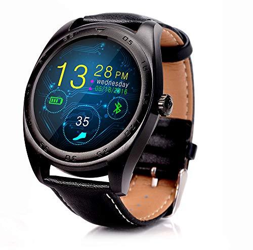 HKPLDE Smartwatch/Pantalla táctil Pulsera Actividad Impermeable Podómetro Sport Calorías para Hombres Mujer Adecuado para Android y iOS Fitness Tracker-B