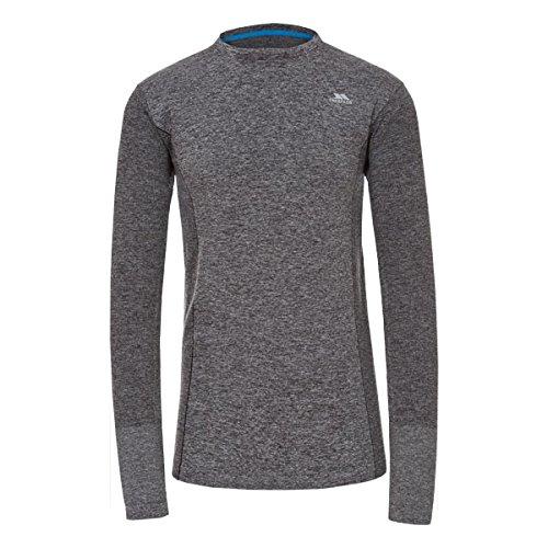 Trespass Timo T-Shirt à Manches Longues Homme, Noir, FR (Taille Fabricant : XS)