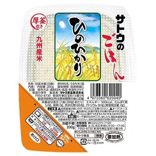 サトウ食品 サトウのごはん 九州産ひのひかり 200g×20個入×(2ケース)
