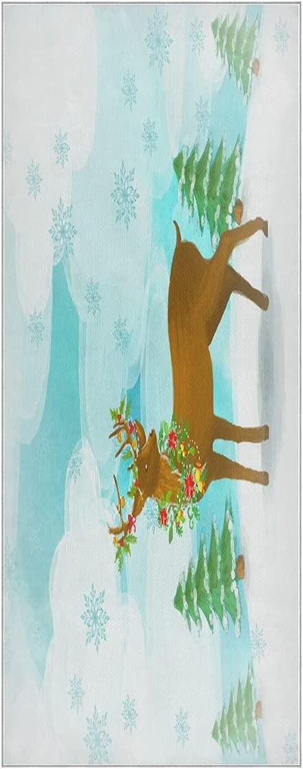 FVFV White Snow Deer Max 87% OFF Yoga Towel Super Soft Mat Slip Odorless Max 63% OFF Non