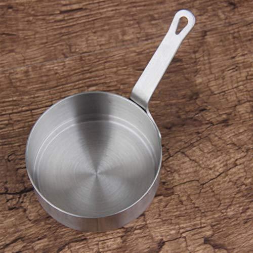 wok Alimentos antiadherente Pan de leche Mantequilla de leche Mantequilla de chocolate Calentamiento de calefacción Pan cálculo Pequeño Cacerola Pote de queso con cochecitos wok (Size : S)