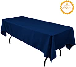 SilkLove Tablecloth - 60 x 102 Inch -Navy Blue-Rectangular Polyester Table Cloth, Wrinkle,Stain Resistant - Navy Blue for Buffet Table, Parties, Holiday Dinner & More