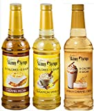 Jordan's Skinny Syrups New Favorites Collection - Caramel Pecan, Cinnamon Vanilla, Vanilla Caramel...