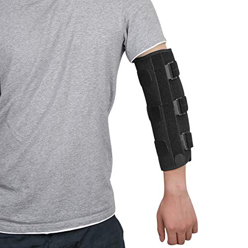 fibee Adult Elbow Immobilizer Stabilizer, Adjustable Compression Elbow Support Brace Splint for Women and Men for Night Sleeping Tendonitis Pain Relief of Cubital Tunnel Syndromean, Back Pull (S/M)