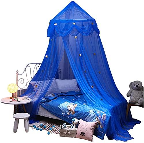 JIAJBG Tienda Cúpula Mosquitera, Casas de Cama para Niños, Cómica Redonda Mess Gauze Bed Mosquito Net, Decoración Colgante Casa de Juego para Bebés Portátil