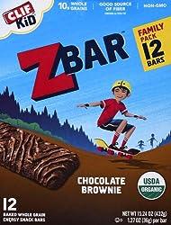 CLIF KID ZBAR - Organic Granola Bars - Chocolate Brownie - Non-GMO - Organic -Lunch Box Snacks (1.27