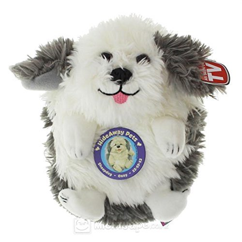 """Jay at Play Hideaway Pet - Unfoldable Pillow Plush Animal - As Seen on TV (5"""", Baby Sheep Dog)"""