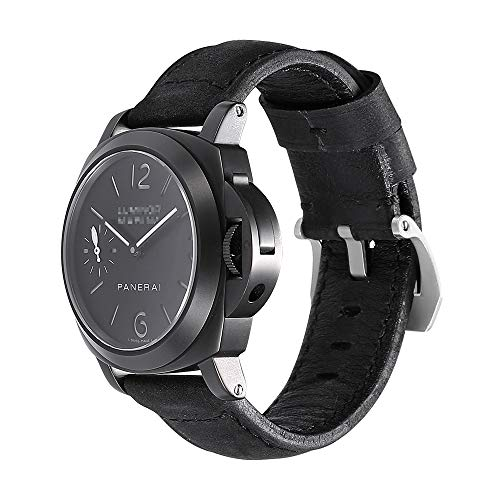 iStrap Cinturino orologio 20mm 22mm 24mm 26mm Cinturino orologio militare vintage cinturino cinturino per fascia PANERAI LUMINOR 44 uomo - Marrone