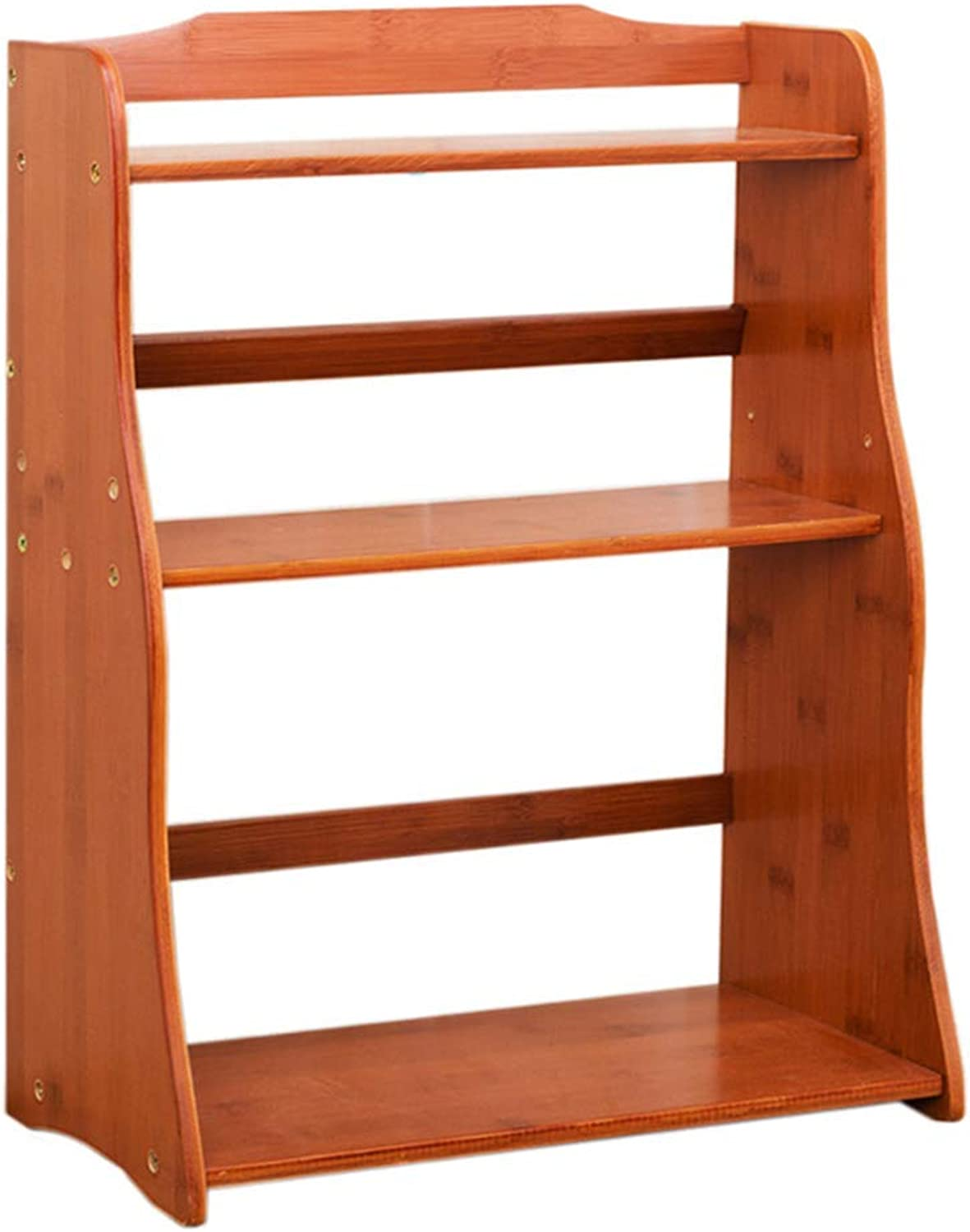 DYR 2 3 Bamboo Shelving Storage Bathroom, Shelves, Shelves, Ideal for Hallway, Bathroom, Kitchen, Living Room (Dimensions  3 Levels)