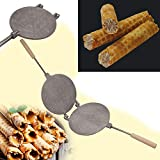 Mold Maker Sweet Waffles Baking Russian Cookies Form Aluminium Alloy Bakeware + Color Book With Russian Recipes
