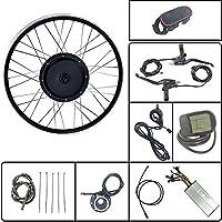 Schuck Kit de conversión de Bicicleta eléctrica Rueda Delantera 48 / 36V500W Rueda de Motor sin escobillas sin Engranaje con Pantalla KT LCD5 con Radio y llanta (48V LCD5 700C)