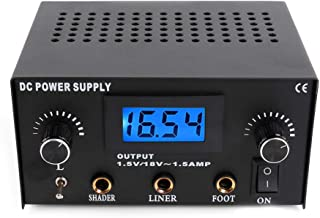 Jconly Tattoo Power Supply - LCD Digital Tattoo Power Supply Voltage Stabilizer Transformer For Tattoo Machine Gun Foot Pedal Tattoo Supply Tool …