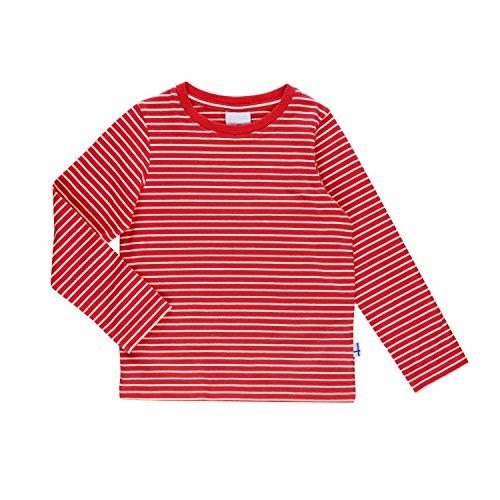 Finkid Sampo red offwhite Kinder Jersey Ringel langarm Shirt