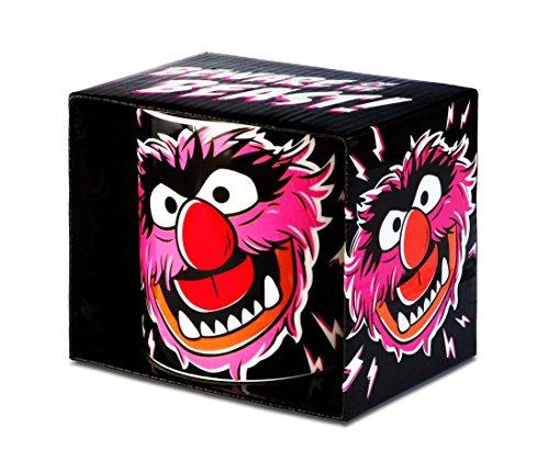 Muppet Show - Das Tier Porzellan Tasse - Kaffeebecher - schwarz - Lizenziertes Originaldesign - LOGOSHIRT