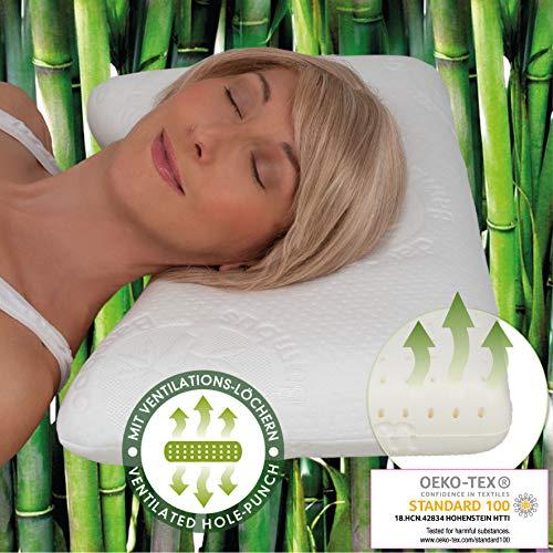Daydream Kopfkissen atmungsaktiv mit Ventilationslöchern aus Memory Foam – Schlafkissen 50 x 35 x 10 cm (P-21200)