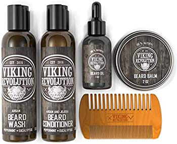 Ultimate Beard Care Conditioner Kit - Beard Grooming Kit for Men Softens Smoothes and Soothes Beard Itch- Contains Beard Wash & Conditioner Beard Oil Beard Balm and Beard Comb- Classic Set