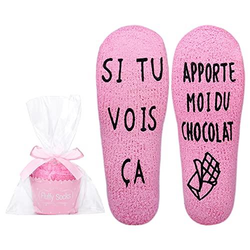 Merclix Chaussette Polaire Femme Chaussette Cupcake Cadeau...