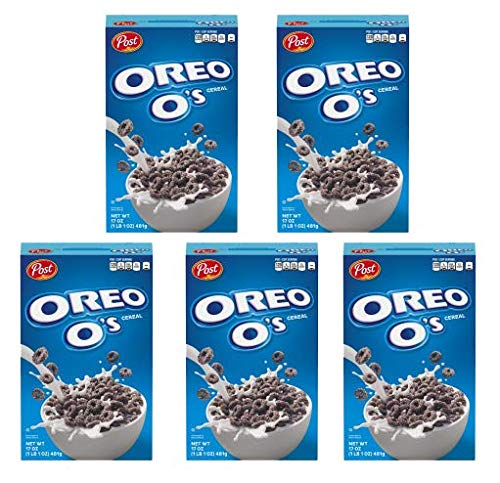 Post Oreo O's Cereal, 17 oz. Box (Pack of 5)