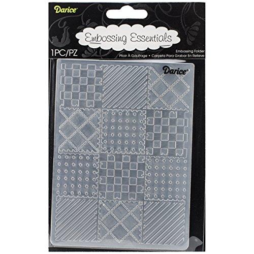 Darice Carpetas de estampación, Plantilla Bloques de Acolchado, Plastic, 8.5x5.3x0.11 Inches