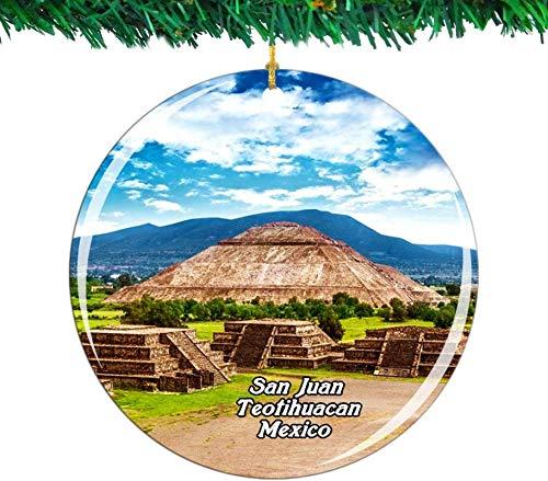 Bernice Winifred México Pirámide del Sol San Juan Teotihuacan Adorno navideño Colección...