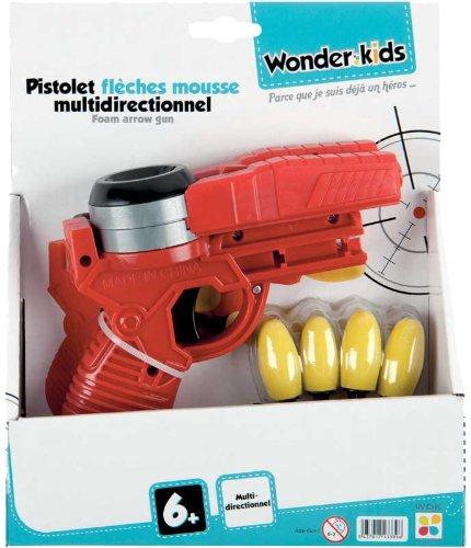 WDK Partner - A1300130 - Jeu de Plein Air - Pistolet flèches mousse multidirectionnel - Coloris aléatoire