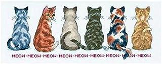 猫を探しています 十字のステッチ キット 綿 14ct 60x30 cm 253x96針 十字のステッチ キッ ト漫画猫コットンクロスステッチを数えた